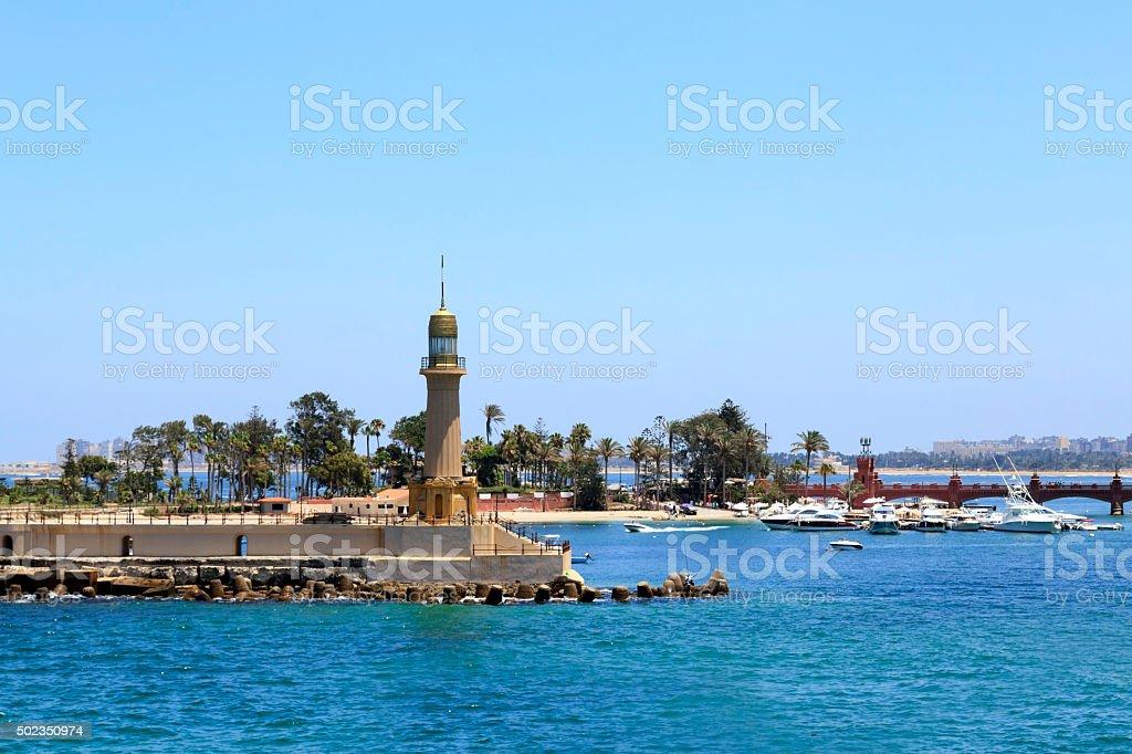 Old light house, Alexandria, Egito - foto de acervo