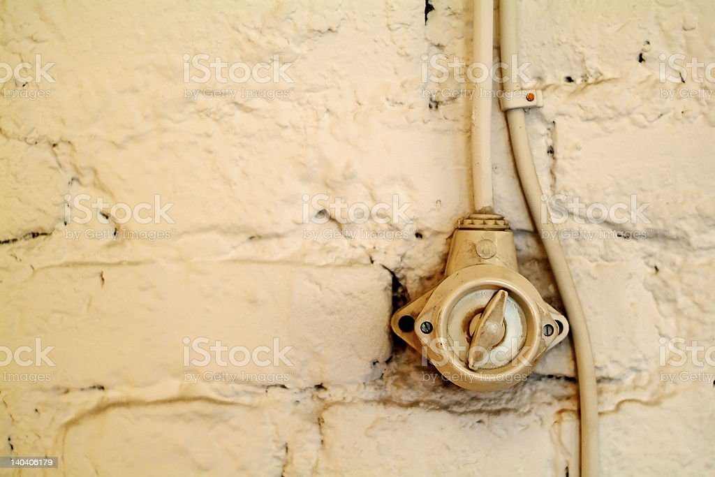 old light switch royalty-free stock photo