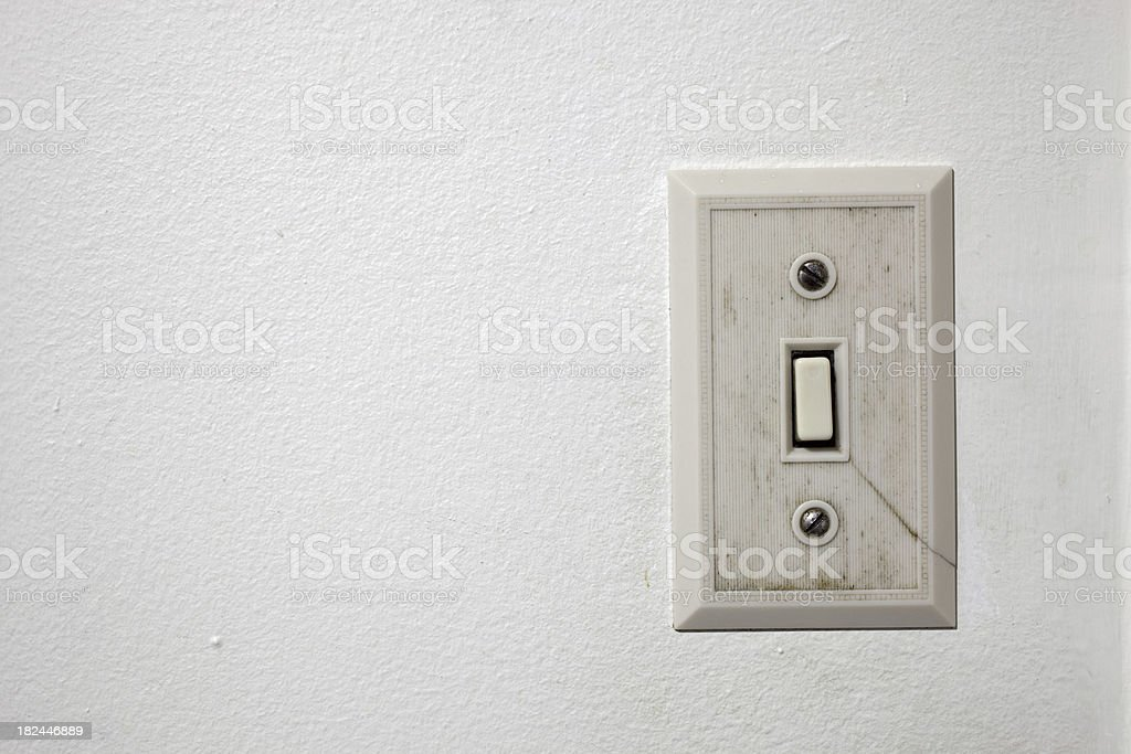Old Light Switch stock photo