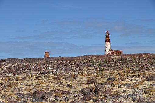 Old lighthouse in Isla Pingüino