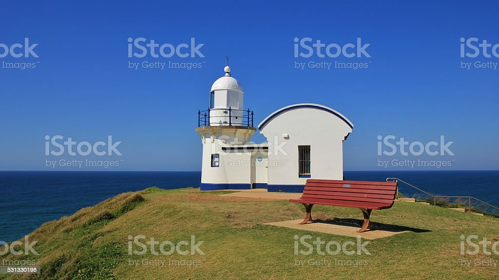 Old lighthouse in Port Macquarie, Australia stock photo