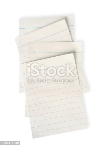 istock old lined paper with clipping path 140411046