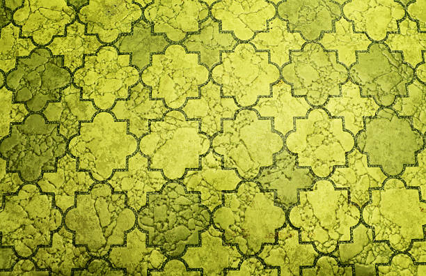 Old linoleum floor stock photo