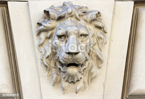 A lion on a wall in Vienna