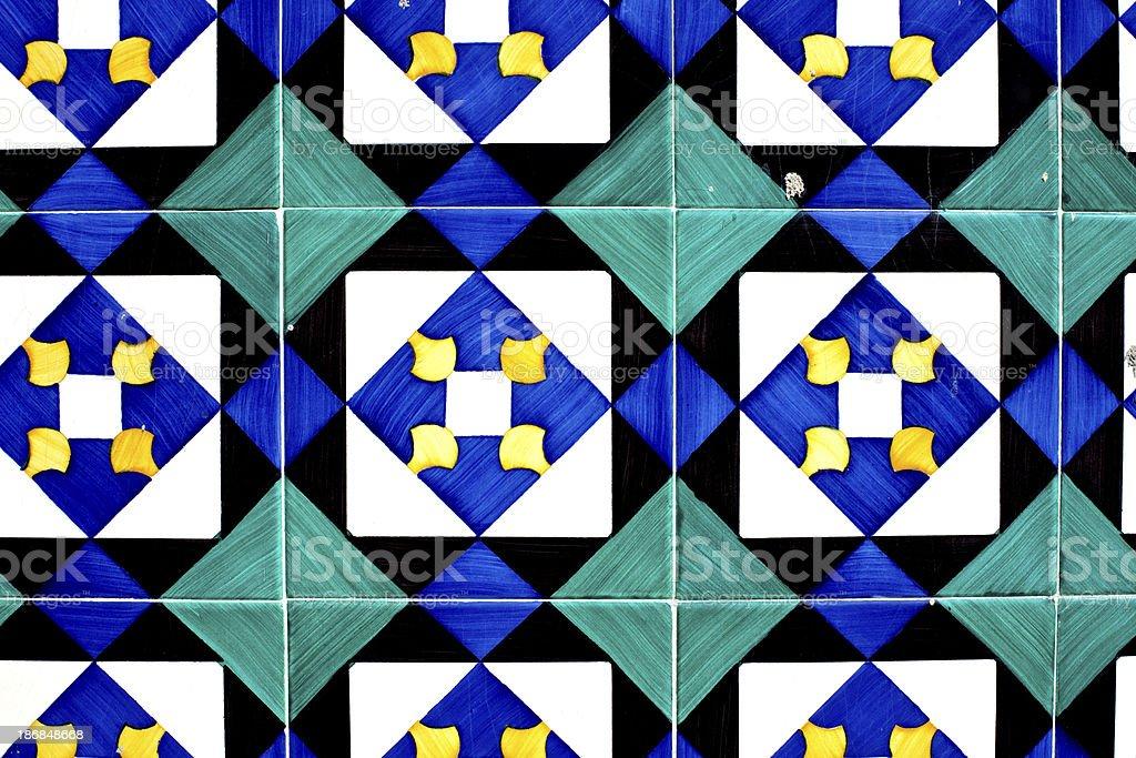 old Lisbon tiles , azulejos royalty-free stock photo