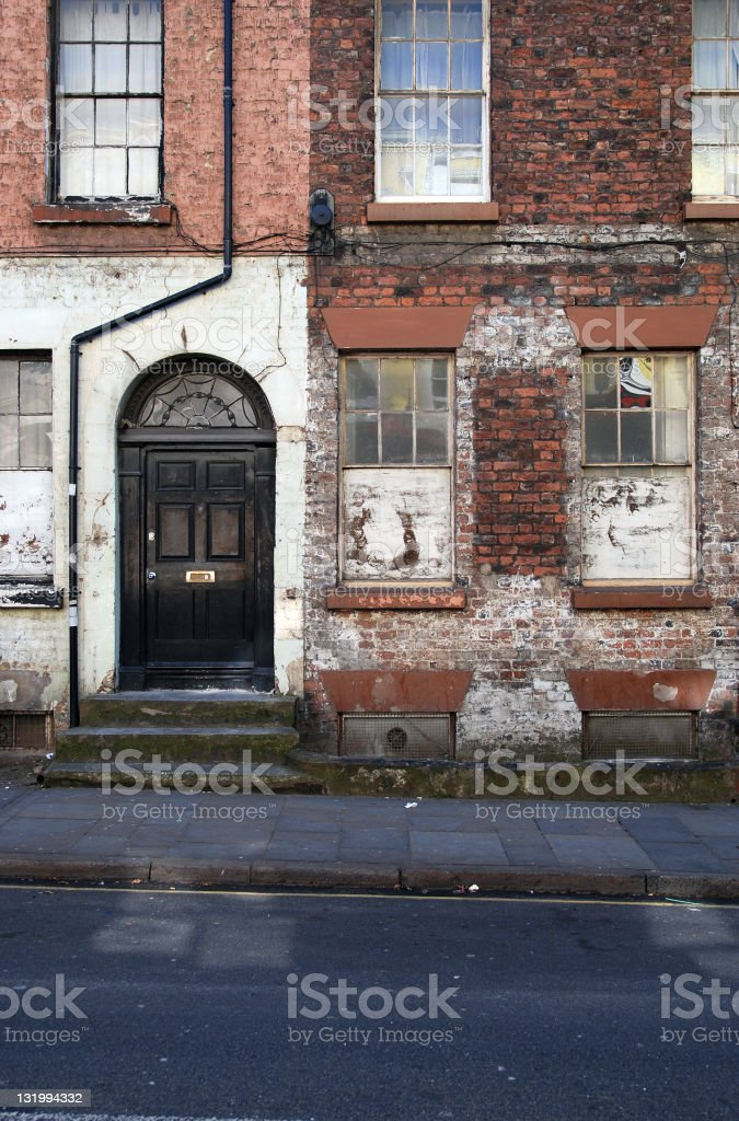 Old Liverpool house royalty-free stock photo
