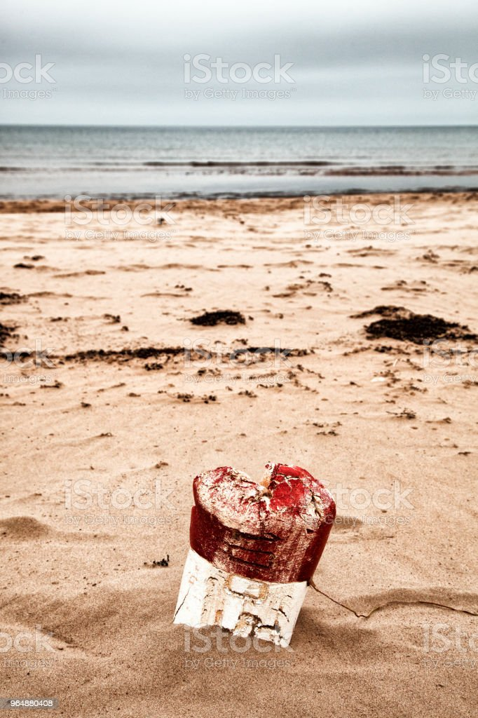 Old lobster fishing buoy royalty-free stock photo