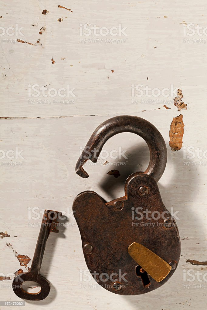 Old Lock and Key. royalty-free stock photo