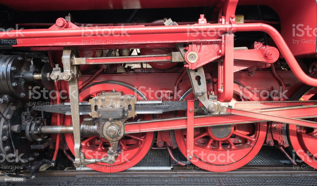 Old locomotive as a background. Concept of transport stock photo