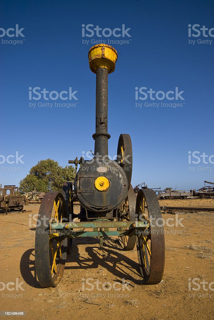 Old Locomotive at Carnarvon stock photo