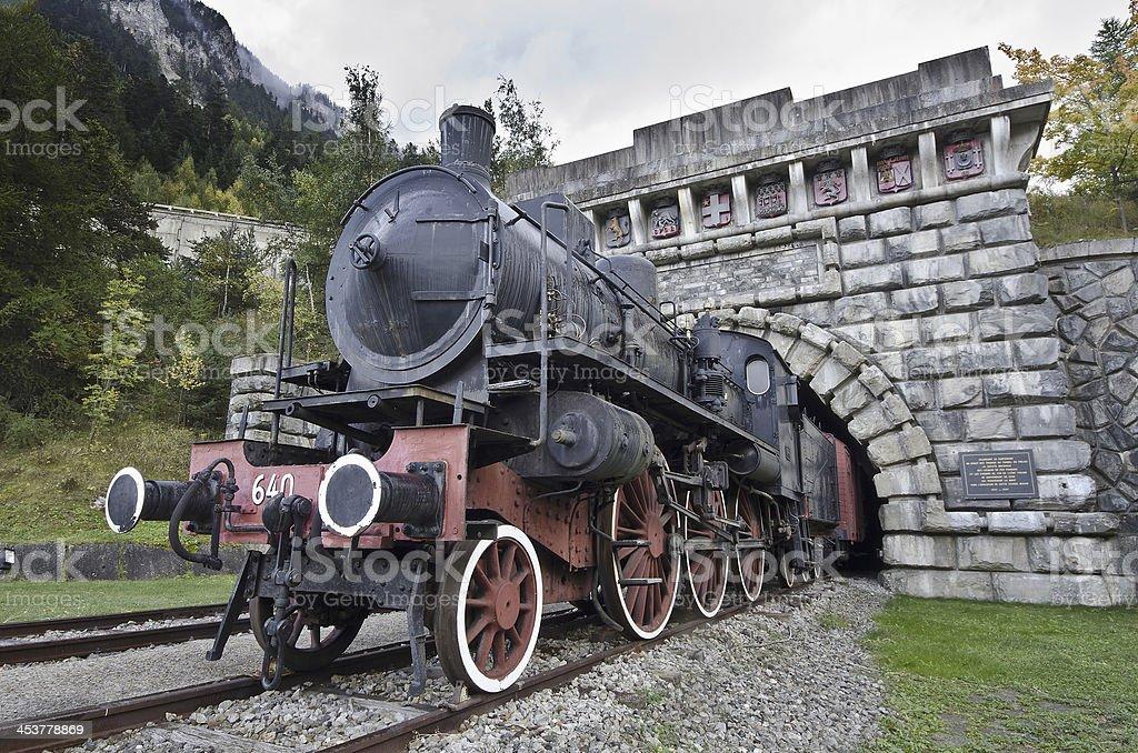 Old locomotive of Frejus stock photo