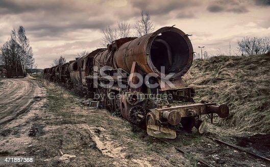 istock Old locomotive 471887368