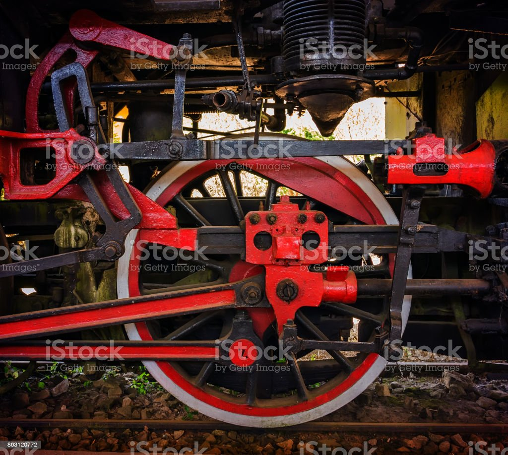 old locomotive railway stock photo