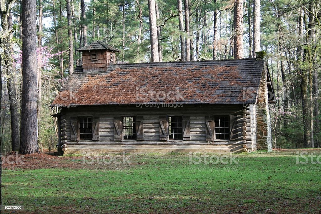 Old Log Cabin Church royalty-free stock photo