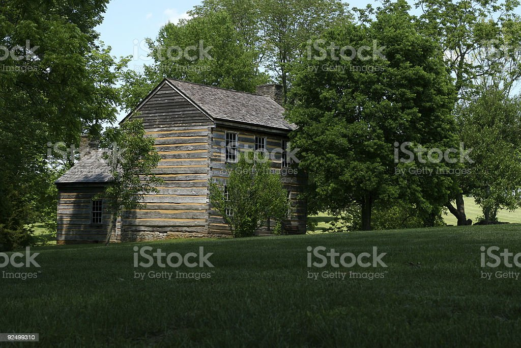 Old Log Cabin royalty-free stock photo