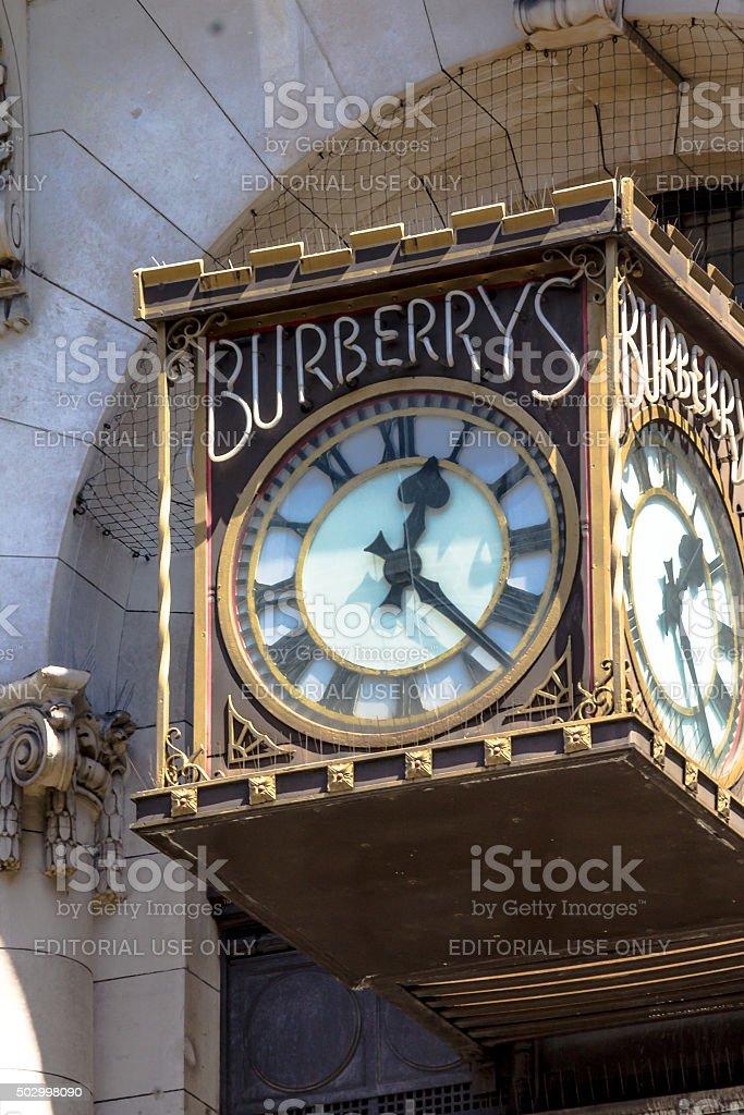 old London street clock, London, UK stock photo