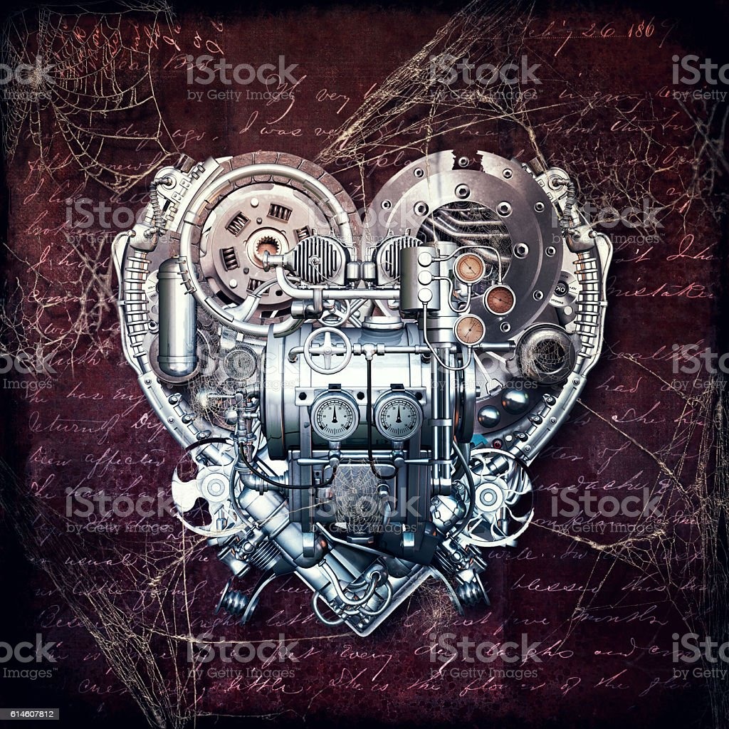 Old love does not rust, 3D illustration – Foto