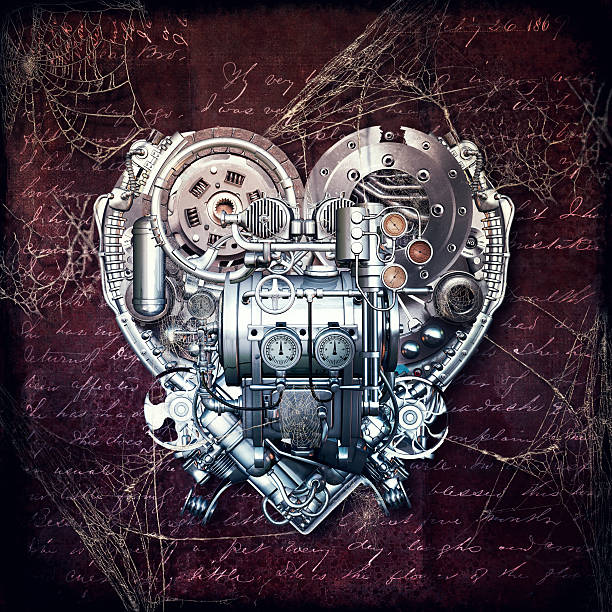 Old love does not rust, 3D illustration stock photo