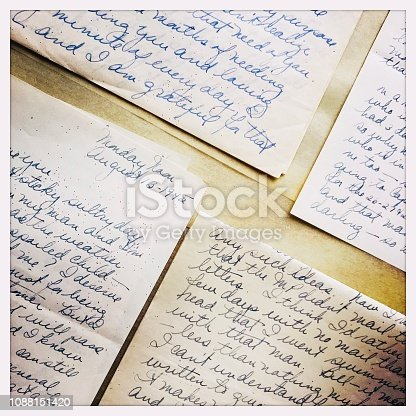 istock Old Love Letters from WW II ERA 1088151420