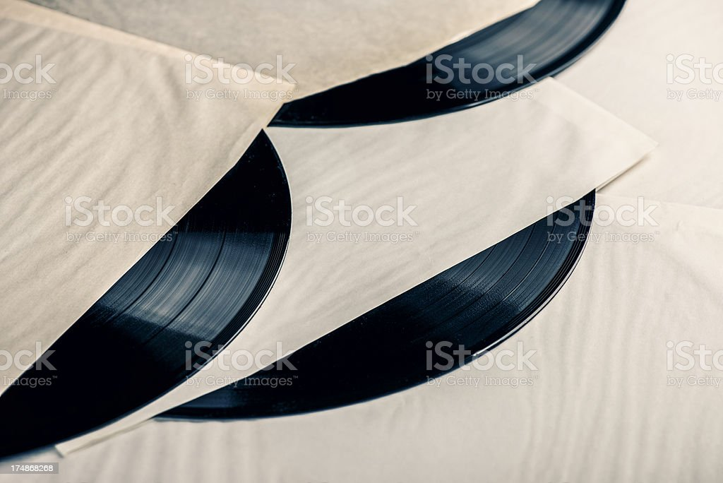 Old LP´s in sleeve royalty-free stock photo