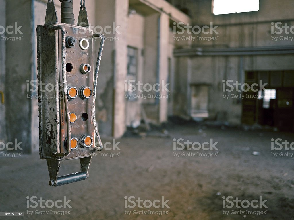 Old machine dial stock photo