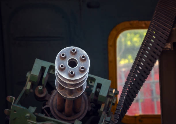 old machine gun in the door helicopter old machine gun in the door helicopter viet cong stock pictures, royalty-free photos & images