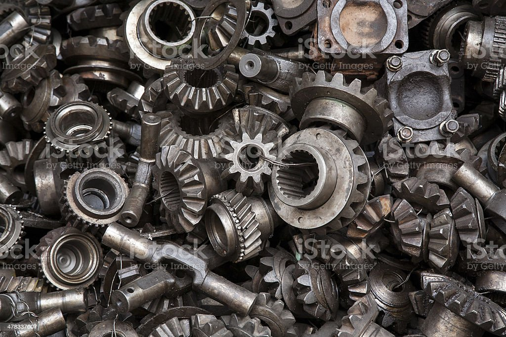 Old machine parts background royalty-free stock photo