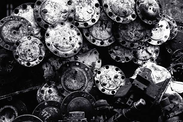 Old machine parts stock photo