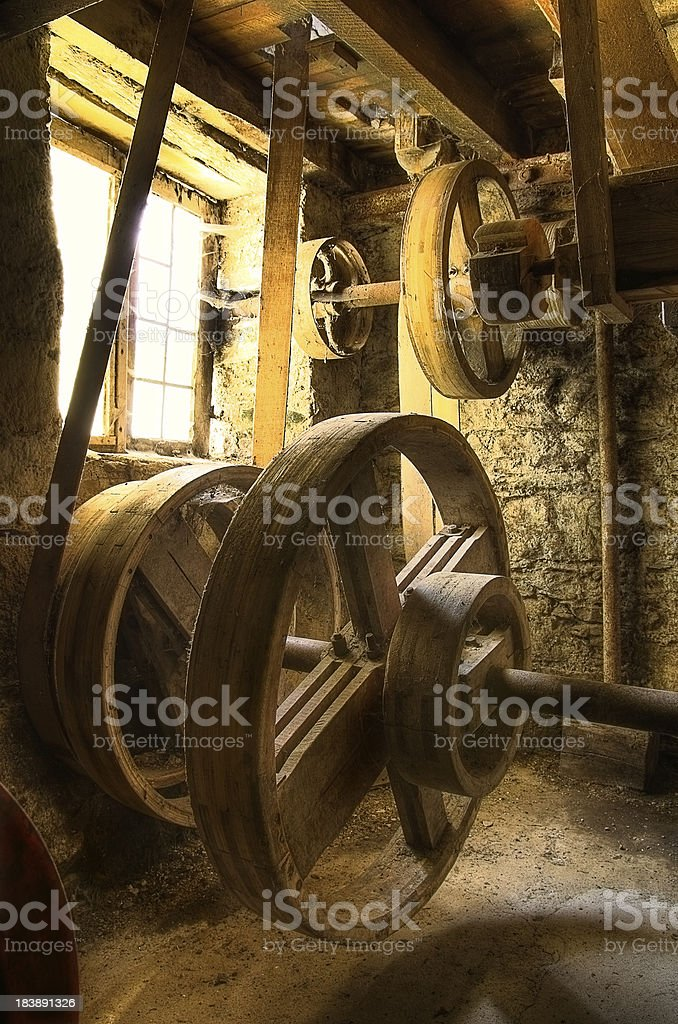 Old machinery in abandoned mill - HDR stock photo