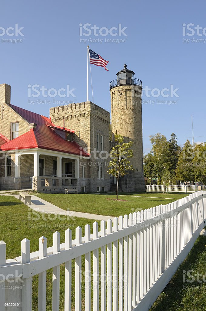 Old Mackinac Lighthouse royalty-free stock photo
