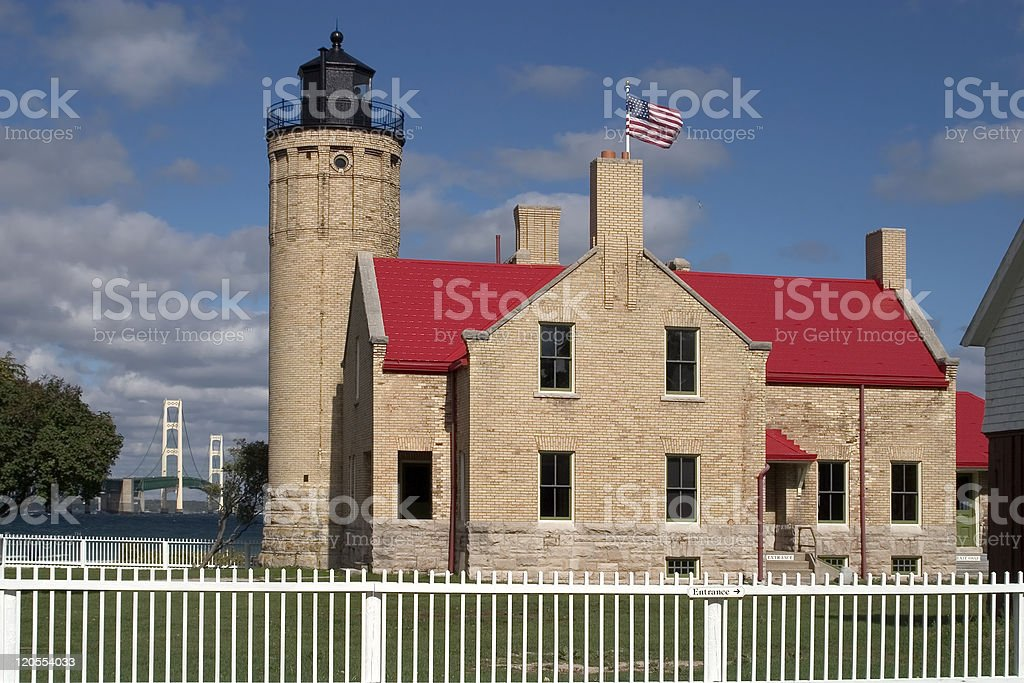 Old Mackinac Point Lighthouse royalty-free stock photo