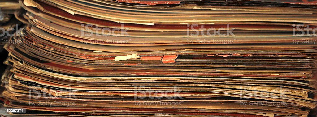 old magazines royalty-free stock photo