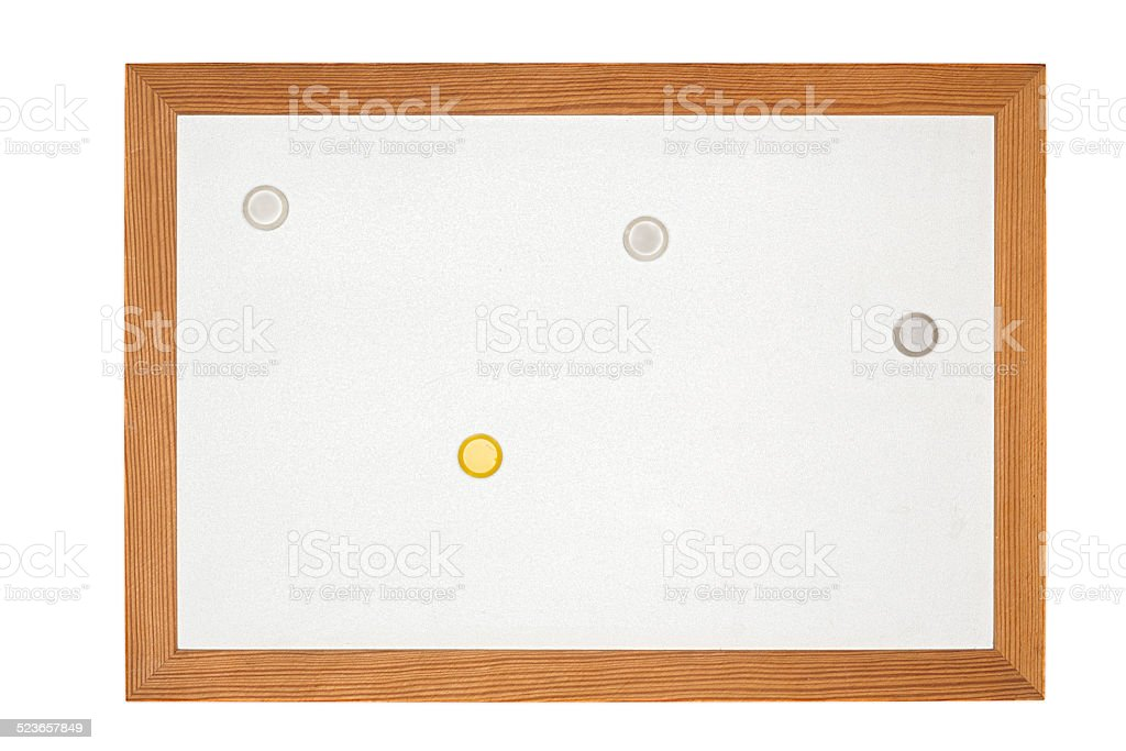 old magnetic message board stock photo