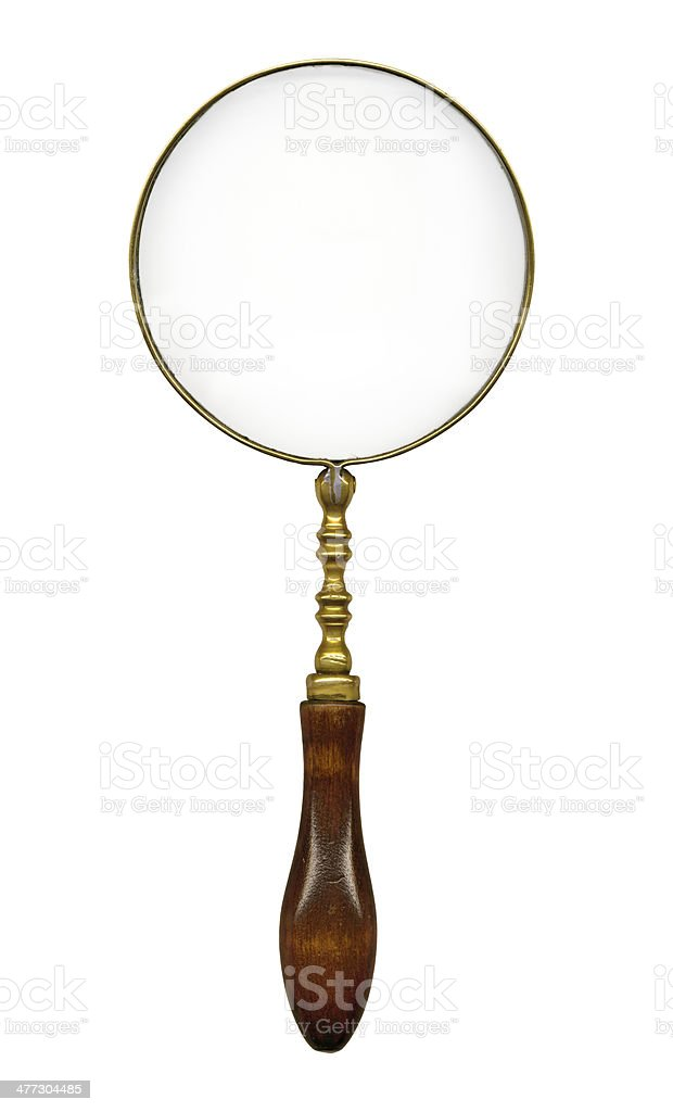 old magnifying glass royalty-free stock photo