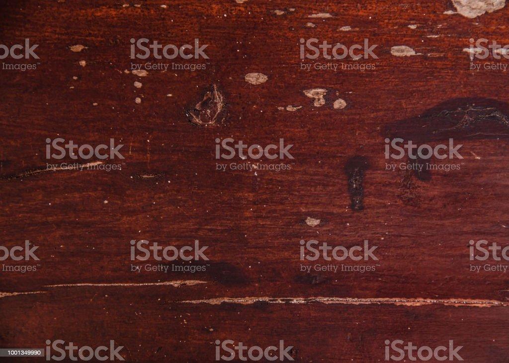 Photo De Stock De Vieux Bois Acajou Avec Texture De Peinture Fissure