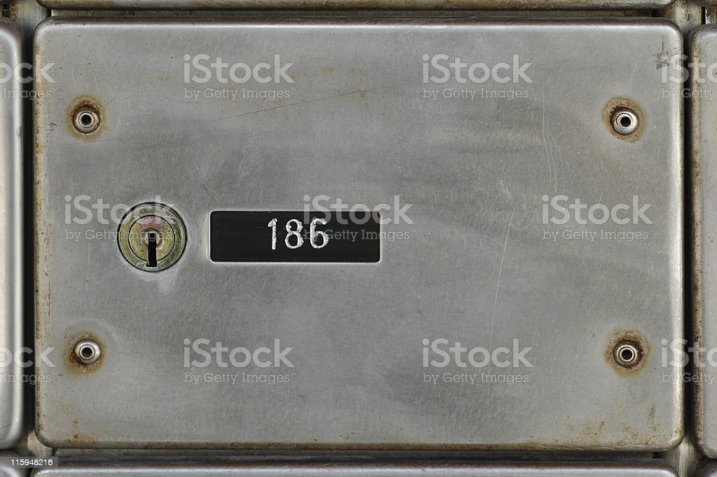 Old mailbox royalty-free stock photo