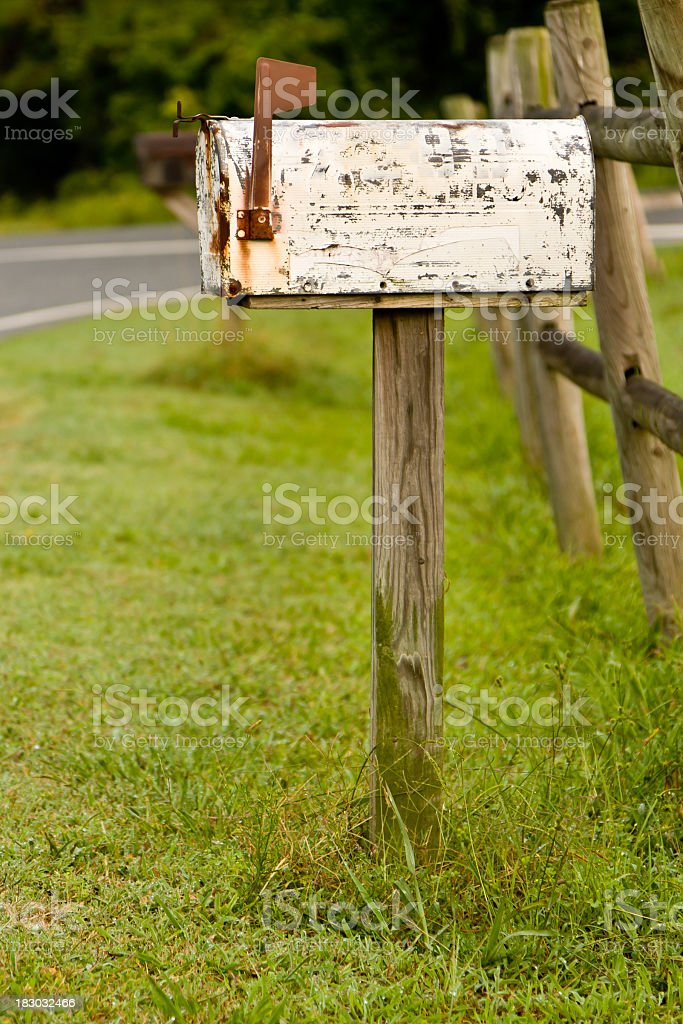 Old Mailbox stock photo