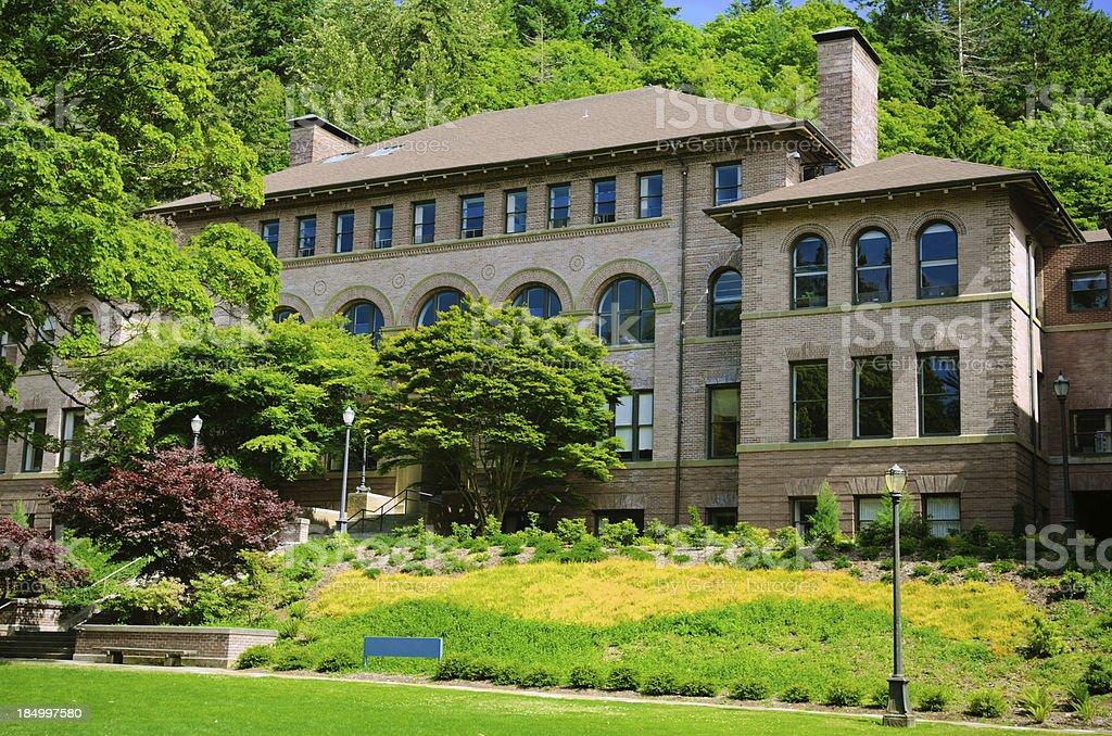 Old Main building at Western Washington University in Bellingham, WA stock photo