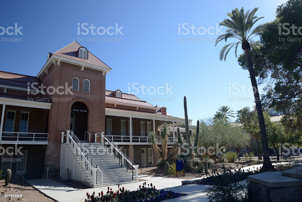 Old Main Building In University Of Arizona Stock Photo & More