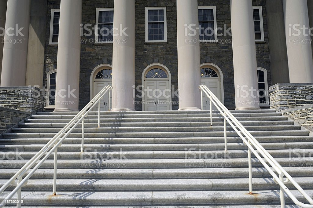 Old Main of Penn State stock photo