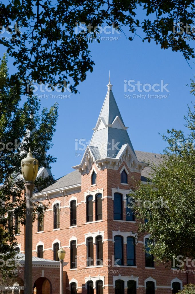 Old Main Tower at Baylor University stock photo