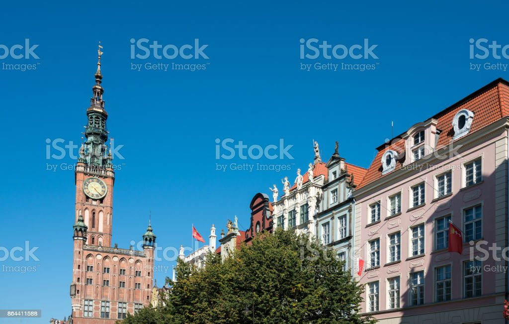 Old Main Town Hall in Gdansk, Poland stock photo