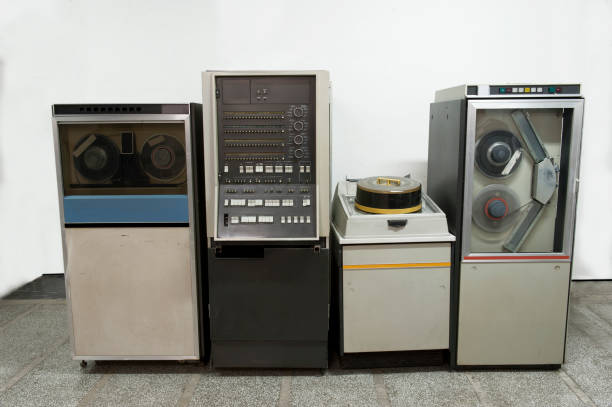 old mainframe supercomputers - mainframe stock pictures, royalty-free photos & images