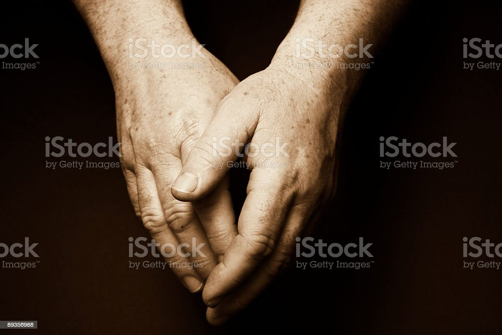 Old males hands royalty-free stock photo