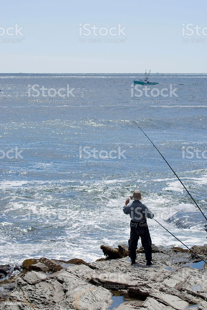 Old Man and the Ocean royalty-free stock photo
