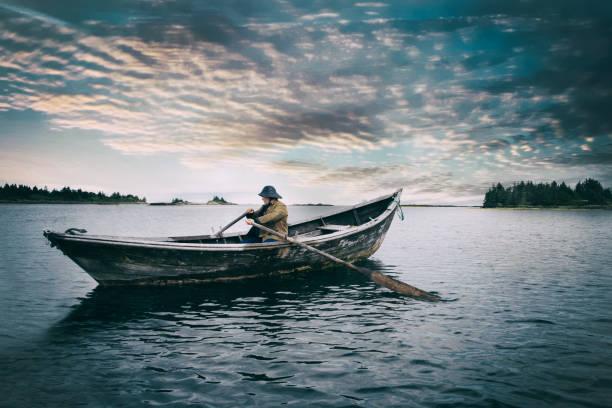 Alter Mann und das Meer – Foto