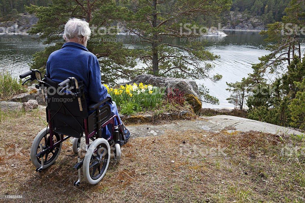 Old man and the sea. royalty-free stock photo
