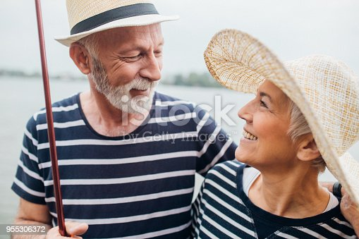 483319252istockphoto Old man and woman looking at each other 955306372