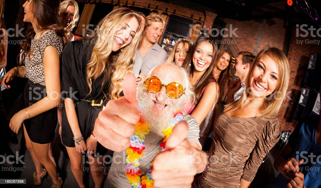 Old Man at Party royalty-free stock photo