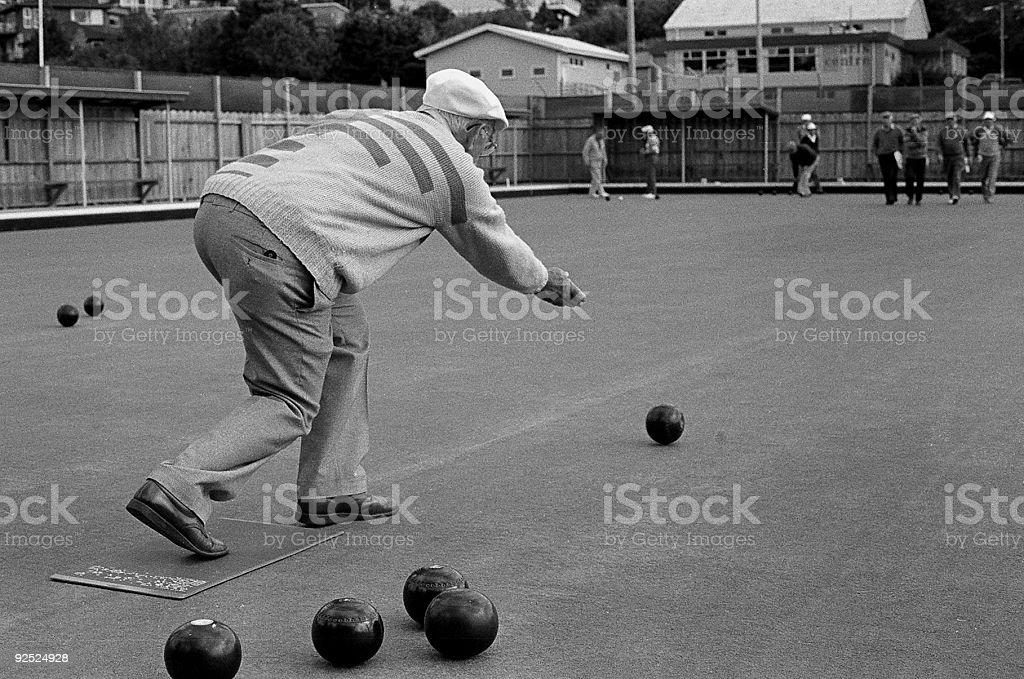 Old man bowls royalty-free stock photo